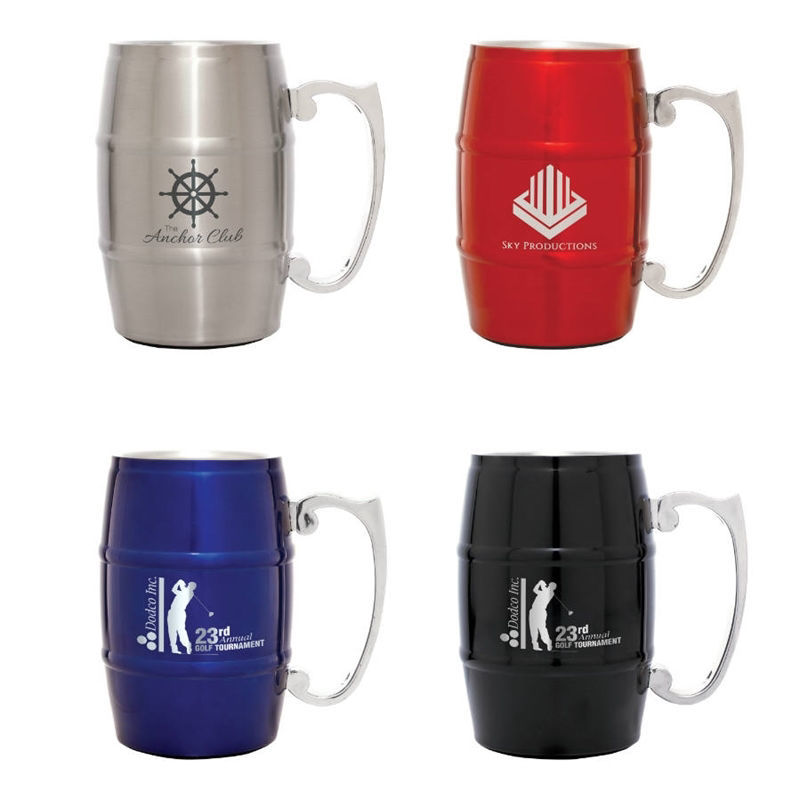 Picture of 17 oz. Stainless Steel Barrel Mug