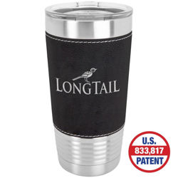 Picture of 20 oz. Laserable Leatherette Vacuum Insulated Stainless Steel Tumbler