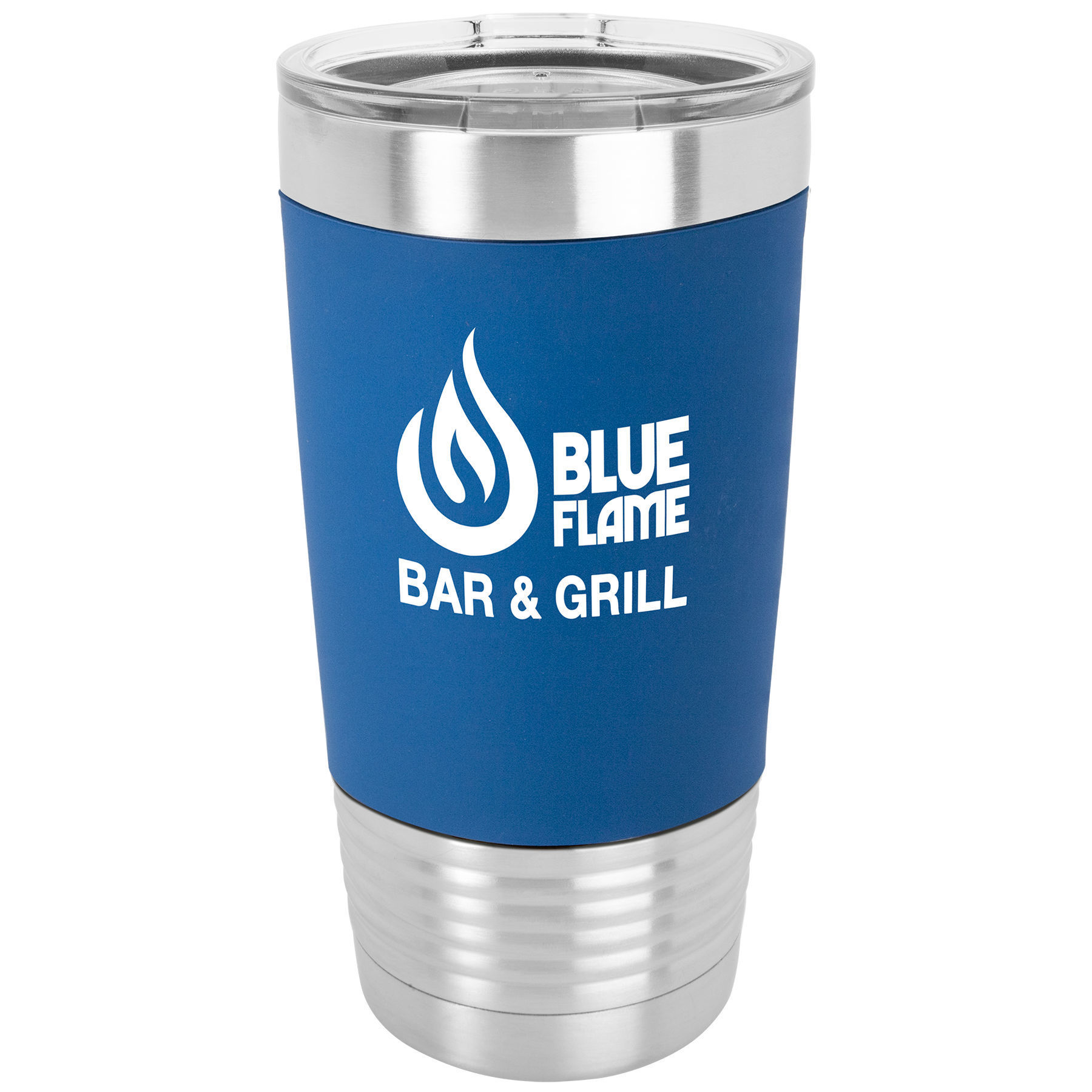 Picture of 20 oz. Polar Camel Silicone Grip Tumbler with Clear Lid